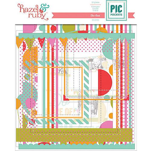 Pic Pockets Die-Cut Cardstock Embellishments, 6/Pkg