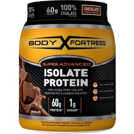 Body Fortress Super Advanced Whey Protein Powder, Chocolate, 60g Protein, 1.5 Lb