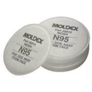MOLDEX 8910 Filter, threaded, N95, White, Niosh Approved