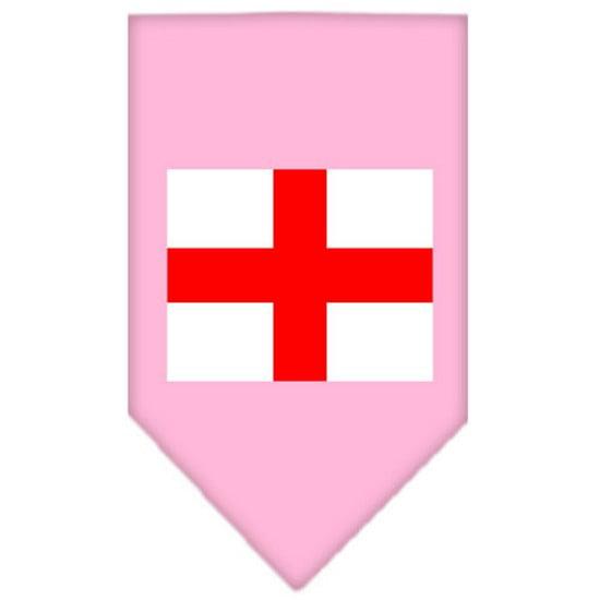 St. Georges Cross Screen Print Bandana Light Pink Large