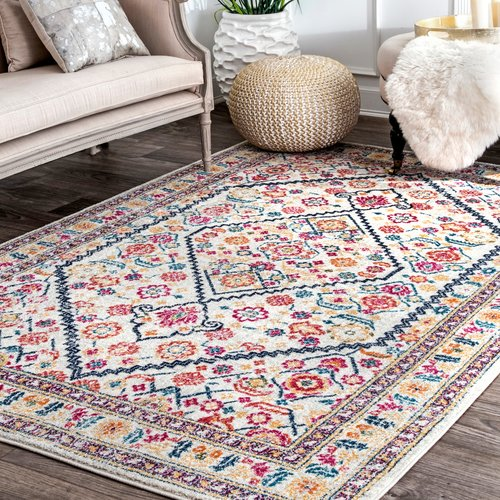 Off white area rug Geometric Overstock Bungalow Rose Perryville Off White Area Rug Walmartcom