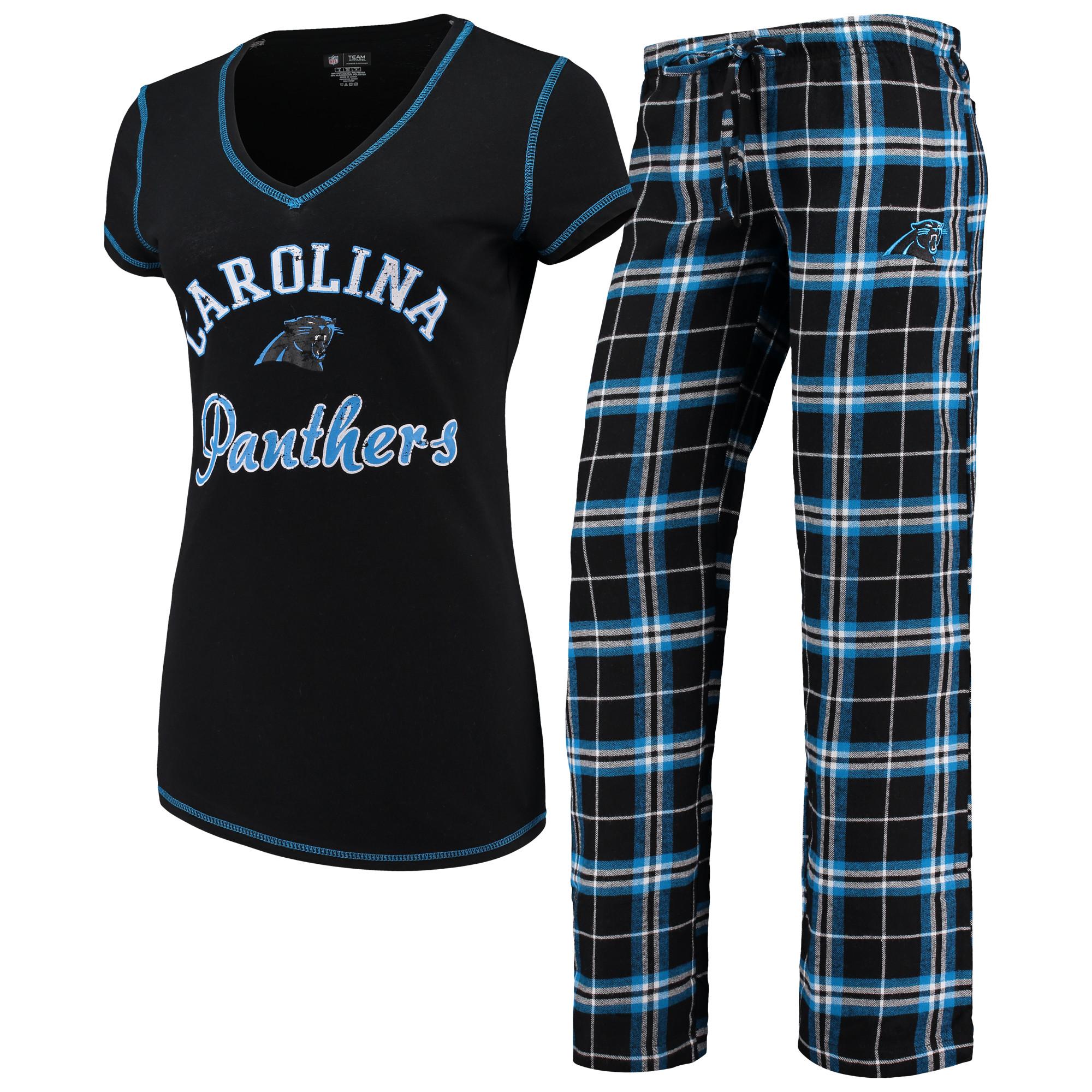 Carolina Panthers Concepts Sport Women's Duo Pants & Top Set - Black