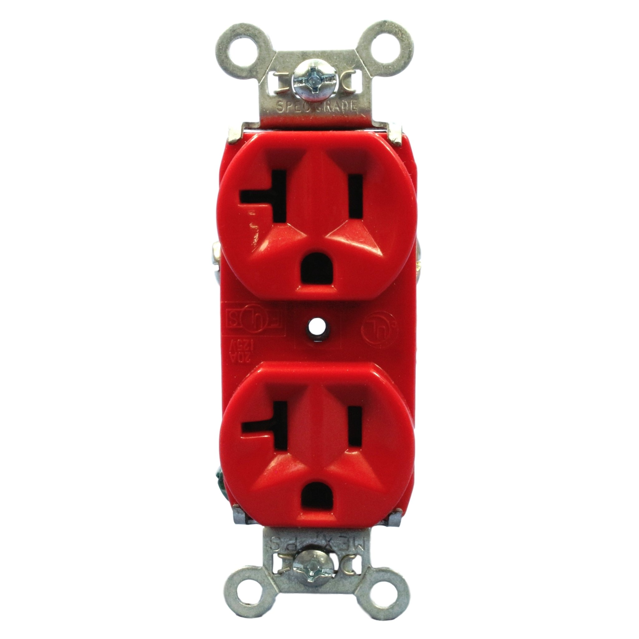 Pass and Seymour 5362-RED Heavy Duty Spec Grade Red Duplex Receptacle Outlet 20A 125V