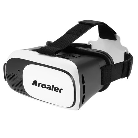 Arealer VRroam Virtual Reality Glasses 3D VR Headset 3D Movie Game Head-mounted Display Universal for Android iOS Smart Phones within 3.5 to 6.0 (Best Vr Headset For The Money)