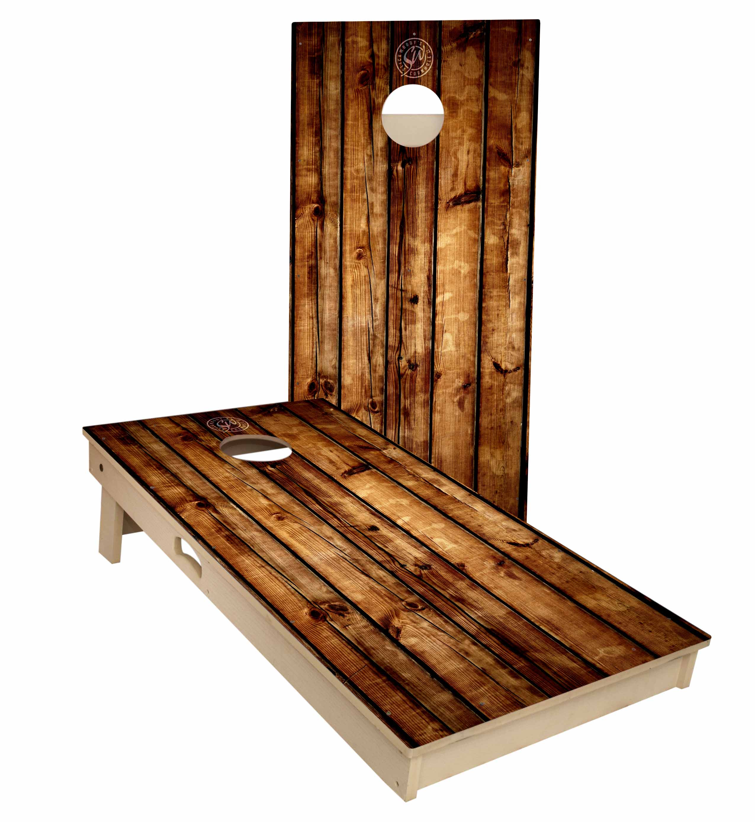 Pallet Wood All Weather Tournament Size Cornhole Boards by