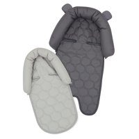 On the Goldbug 2-in-1 Infant Head Support, Baby Car Seat Liner, Solid Grey