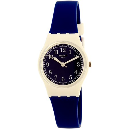 Swatch Women's Squirolino LW152 White Rubber Swiss Quartz Fashion Watch