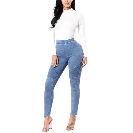 Denim Trousers for Women High Waisted Jeans Skinny Stretch Jeggings Slim Pencil Pants Juniors Casual Leggings Butt Lift