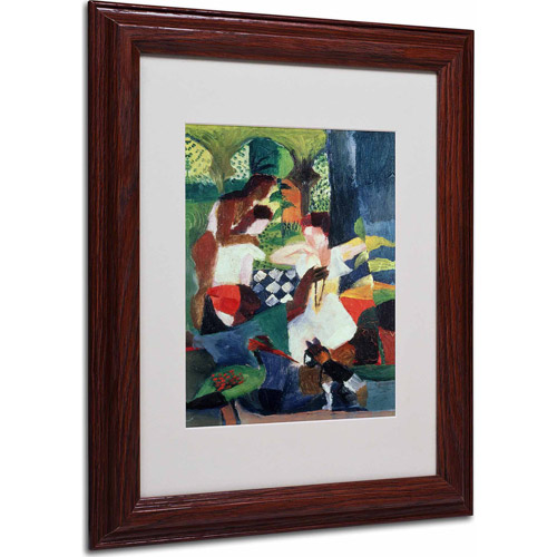 "Trademark Fine Art ""The Turkish Jeweller"" Matted Framed Art by August Macke, Wood Frame"