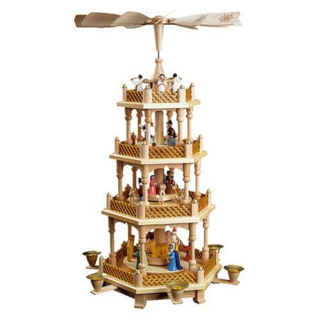 Alexander Taron Richard Glaesser 4 Tier Nativity Scene, Wise Men, Shepherds and Angels Pyramid