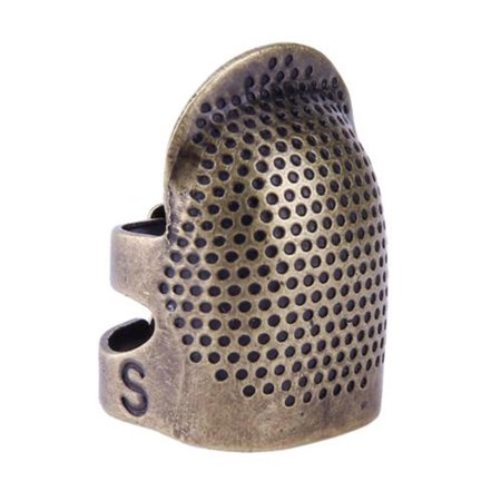 Vintage Thimble Ring Sewing Quilting Copper Cover Fingertip Protector Needle Press Tool (Best Press Quilting Spray)