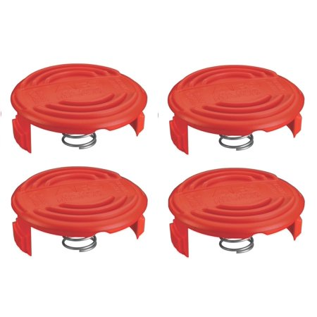 Black and Decker 4 Pack of Genuine OEM Replacement Spool Caps # RC100P-4PK - image 1 de 2