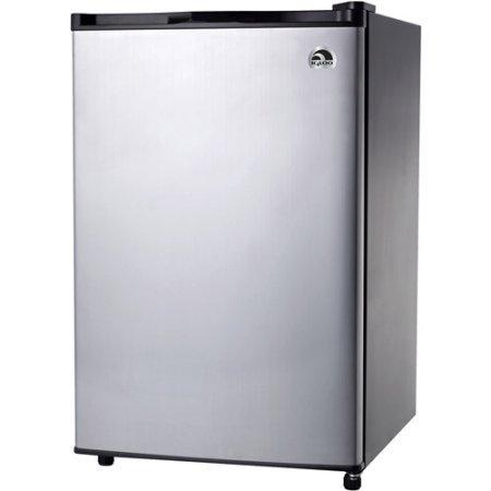Igloo 3.2 cu ft Refrigerator, Platinum, Thermostat range:...