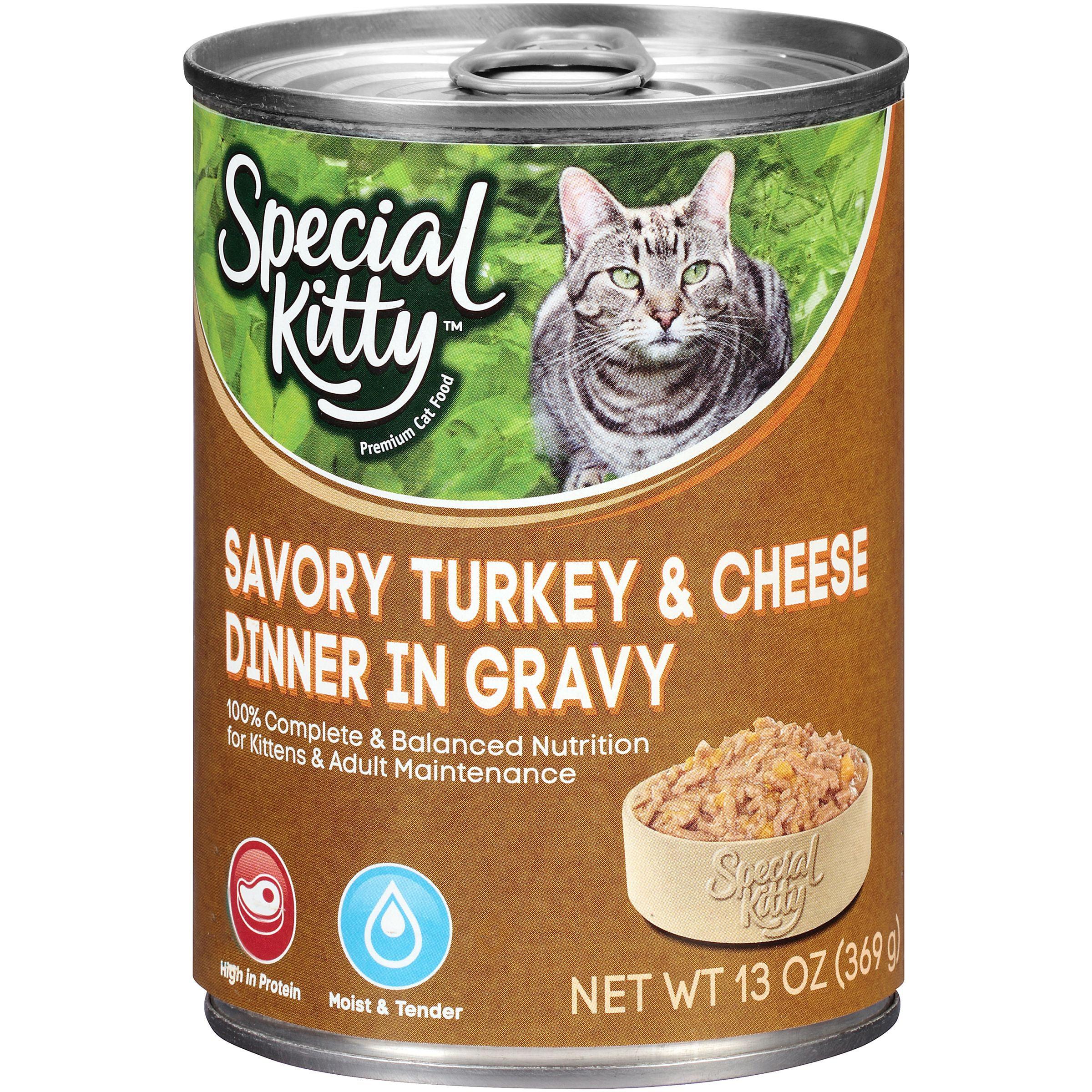 Special Kitty Savory Turkey & Cheese Dinner in Gravy ...