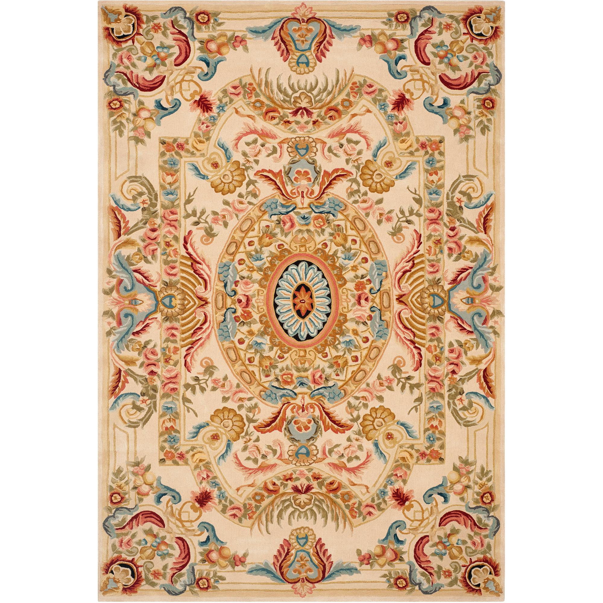Safavieh Savonnerie Alphonse Hand-Tufted Wool Area Rug, Sage/Beige