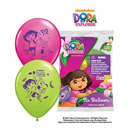 Dora The Explorer Birthday Decorations (Party Supplies - Pioneer Latex Balloons 6 ct 12