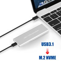 NVMe PCIE USB3.1 SSD/HDD Enclosure M.2 to USB Type C 3.1 Hard Disk Drive Case