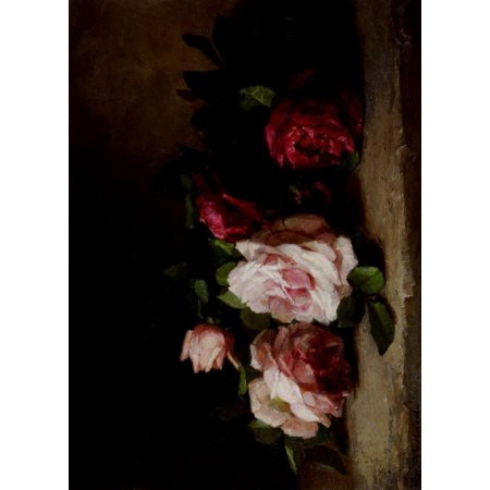 Anna Rose - American Floral Painting Roses Poster Print by  Anna Eliza Hardy