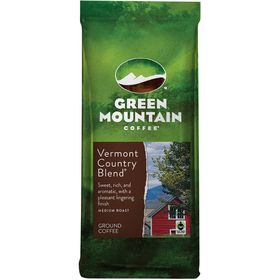 Green Mountain Coffee Vermont Country Blend Medium Roast Ground Coffee, 12 oz