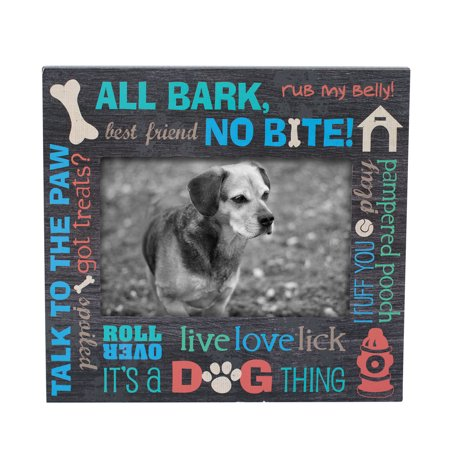 Foreside Home & Garden Multicolor 4 x 6 inch Pet Dog Decorative Wood Picture Frame Pet Photo Picture Frame
