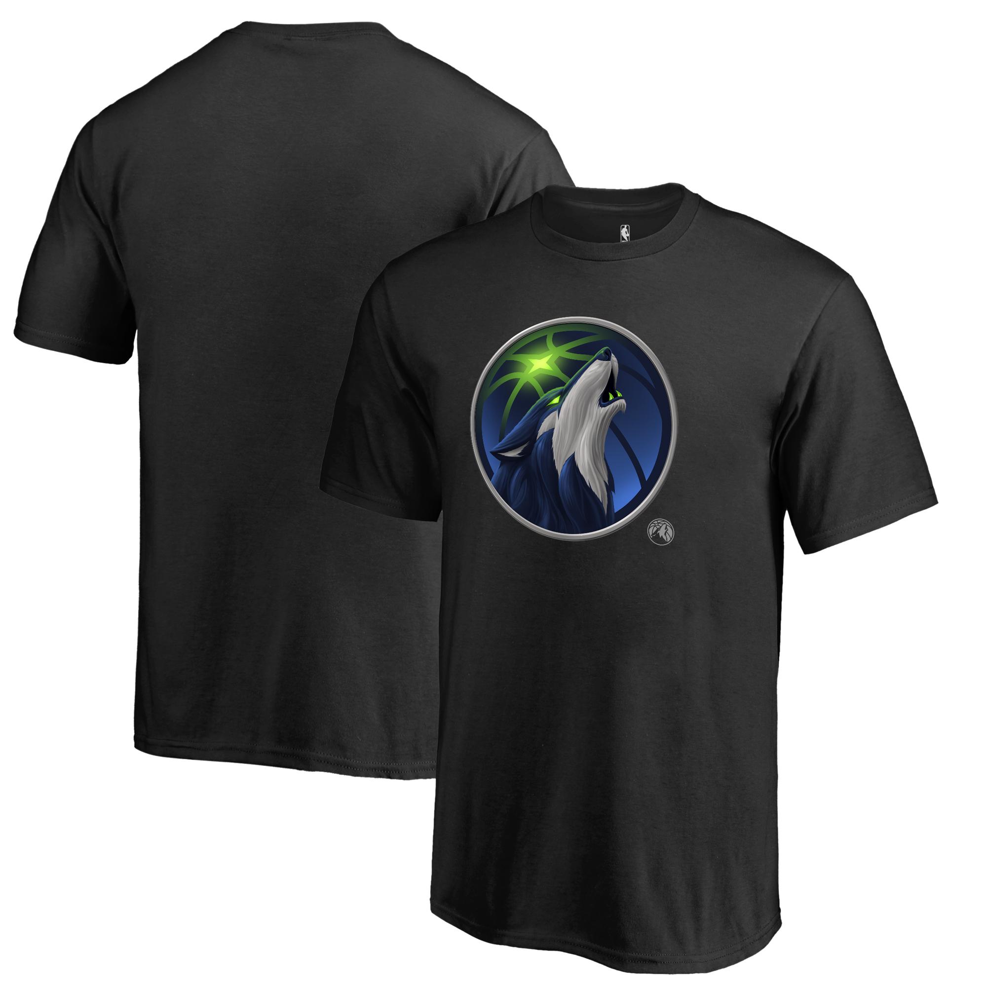 Minnesota Timberwolves Fanatics Branded Youth Midnight Mascot T-Shirt - Black