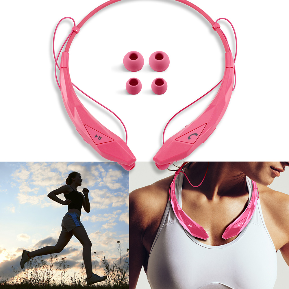 Bluetooth Headphones : Wireless Headset Stereo Sport Headphone Earbuds with Mic Universal Earphones Running or Workout driving Gym for iPhone 8 7 6s Plus Samsung Galaxy S7 Mobile