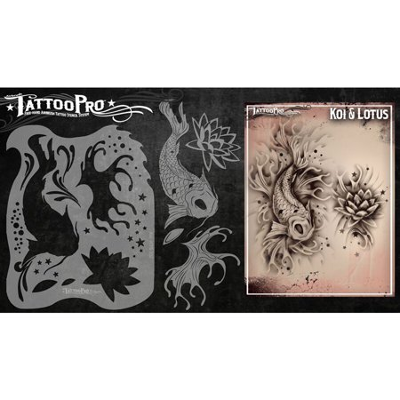 - Tattoo Pro Stencils Series 1 - Koi & Lotus