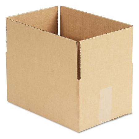 General Supply Brown Corrugated - Fixed-Depth Shipping Boxes, 12l x 8w x 6h, 25/Bundle
