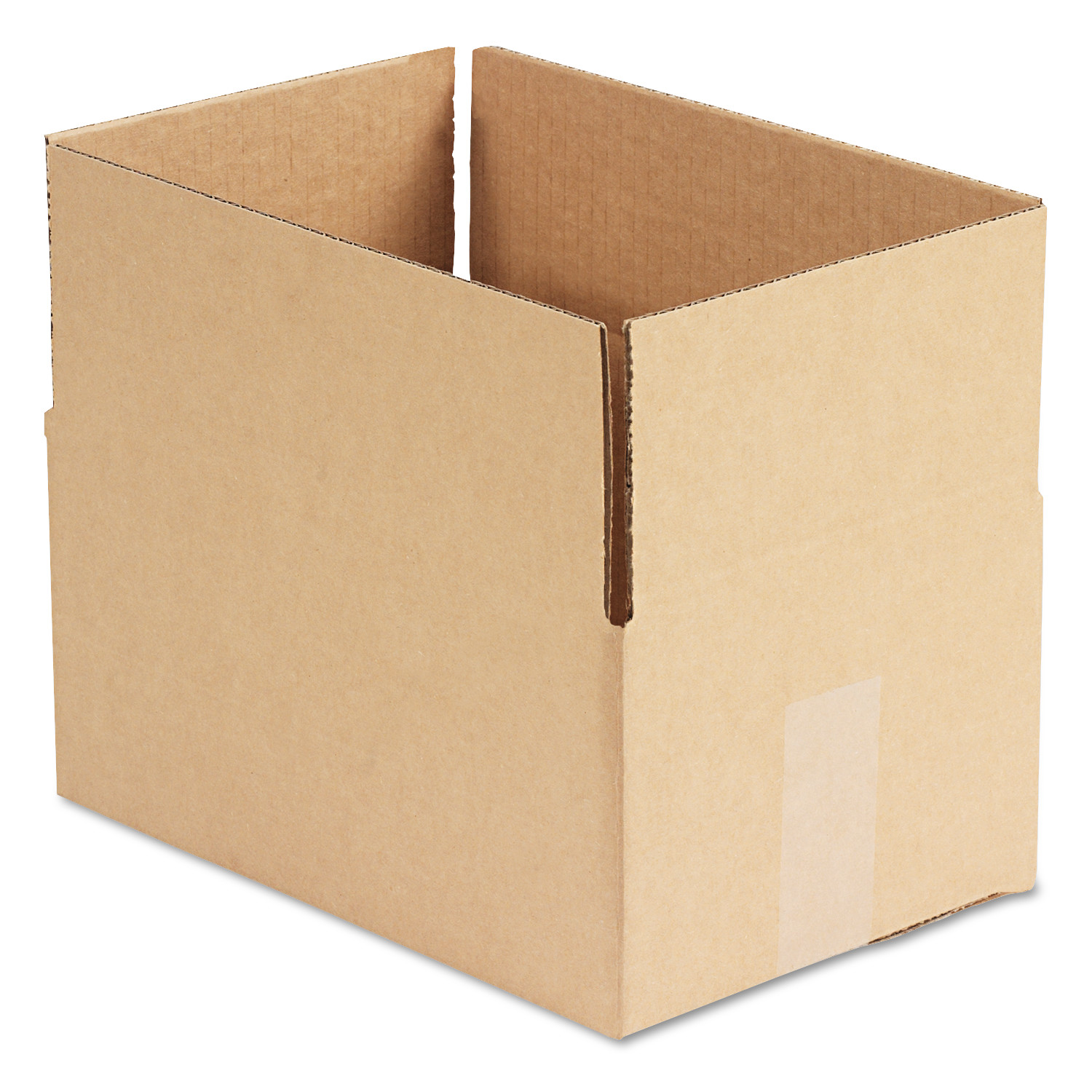 General Supply Brown Corrugated - Fixed-Depth Shipping Boxes, 12l x 8w x 6h, 25/Bundle -UFS1286