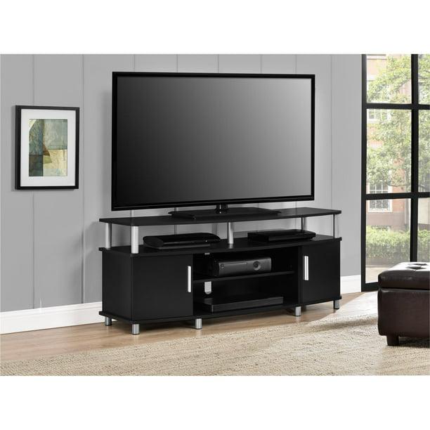 Ameriwood Home Carson Tv Stand For Tvs Up To 50 Wide Black Walmart Com Walmart Com