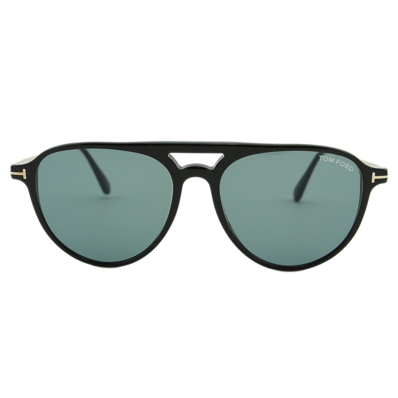 ff9ad249c97a Tom Ford - Tom Ford Carlo-02 TF587 01V Men Black   Gold Metal Temples  Aviator Sunglasses - Walmart.com