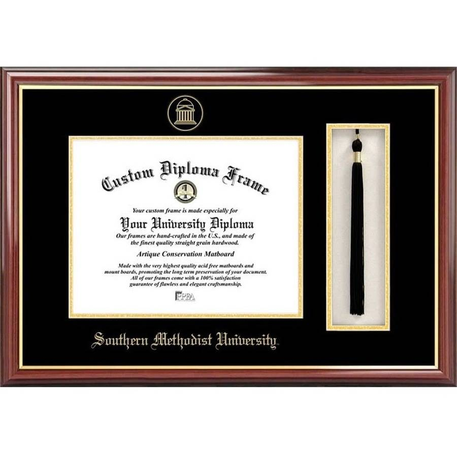 "Southern Methodist University 8.5"" x 11"" Tassel Box and Diploma Frame"
