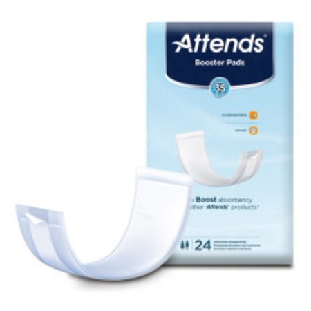 Attends Pad (Attends Incontinence Booster Pad 3-1/2 X 11 Inch Unisex Disposable Pack of 24 )