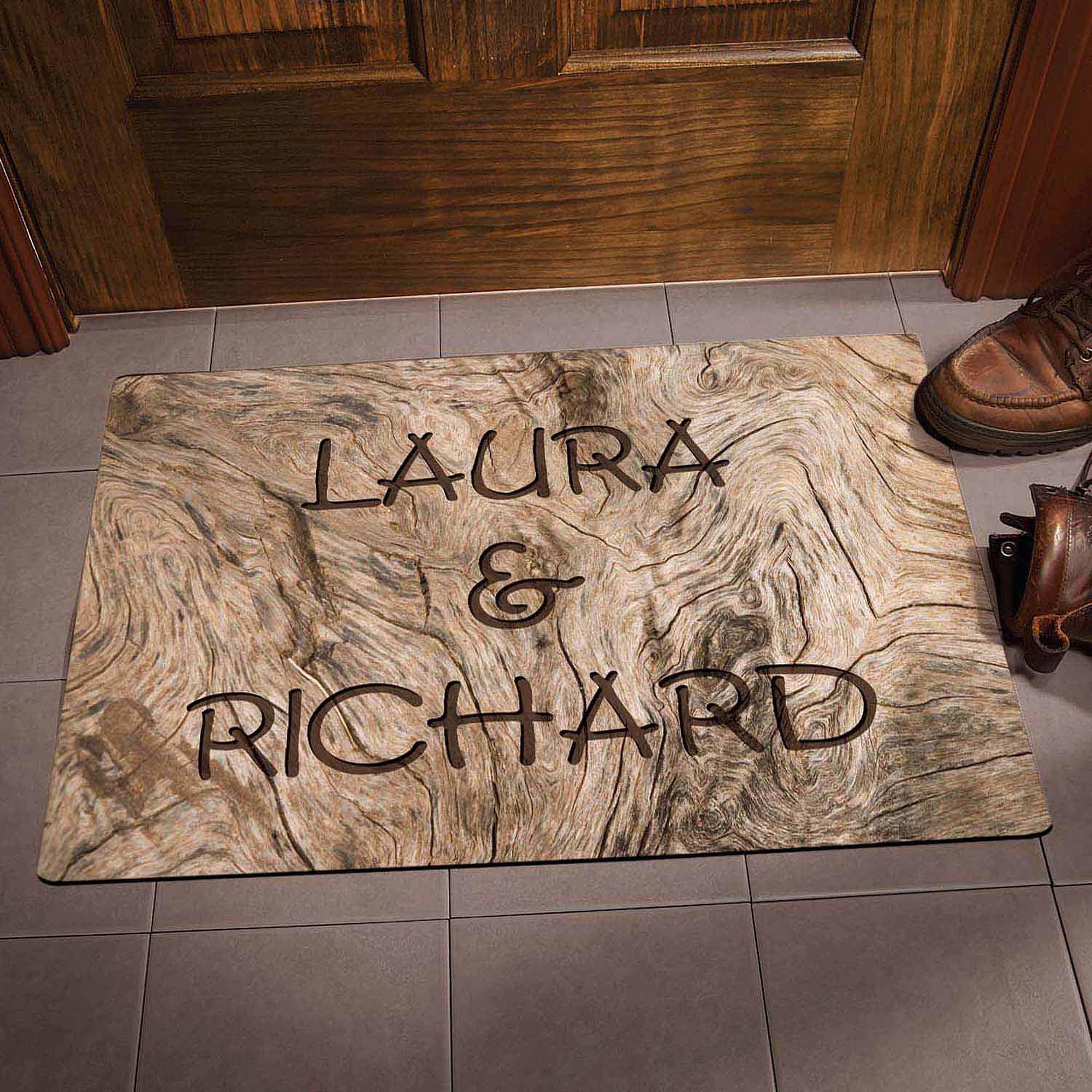 Personalized Driftwood Doormat