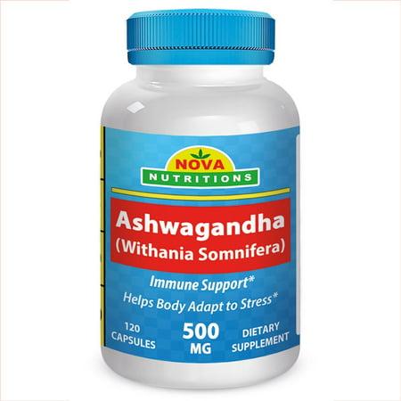 Nova Nutritions Ashwagandha 500 Mg 120 Capsules Walmart Com