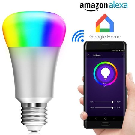 Multicolored Smart LED Bulb Compatible with Alexa & (Best Smart Bulbs For Alexa)