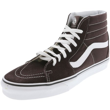 Vans Sk8-Hi Chocolate Torte / True White Ankle-High Canvas Skateboarding Shoe - 10.5M 9M (Vans Sk8 Hi Zip)