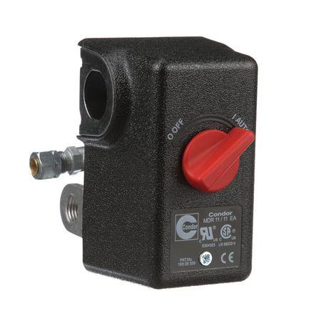 CONDOR USA, INC 11EC2E Pressure Switch, DPST, 80/100 psi