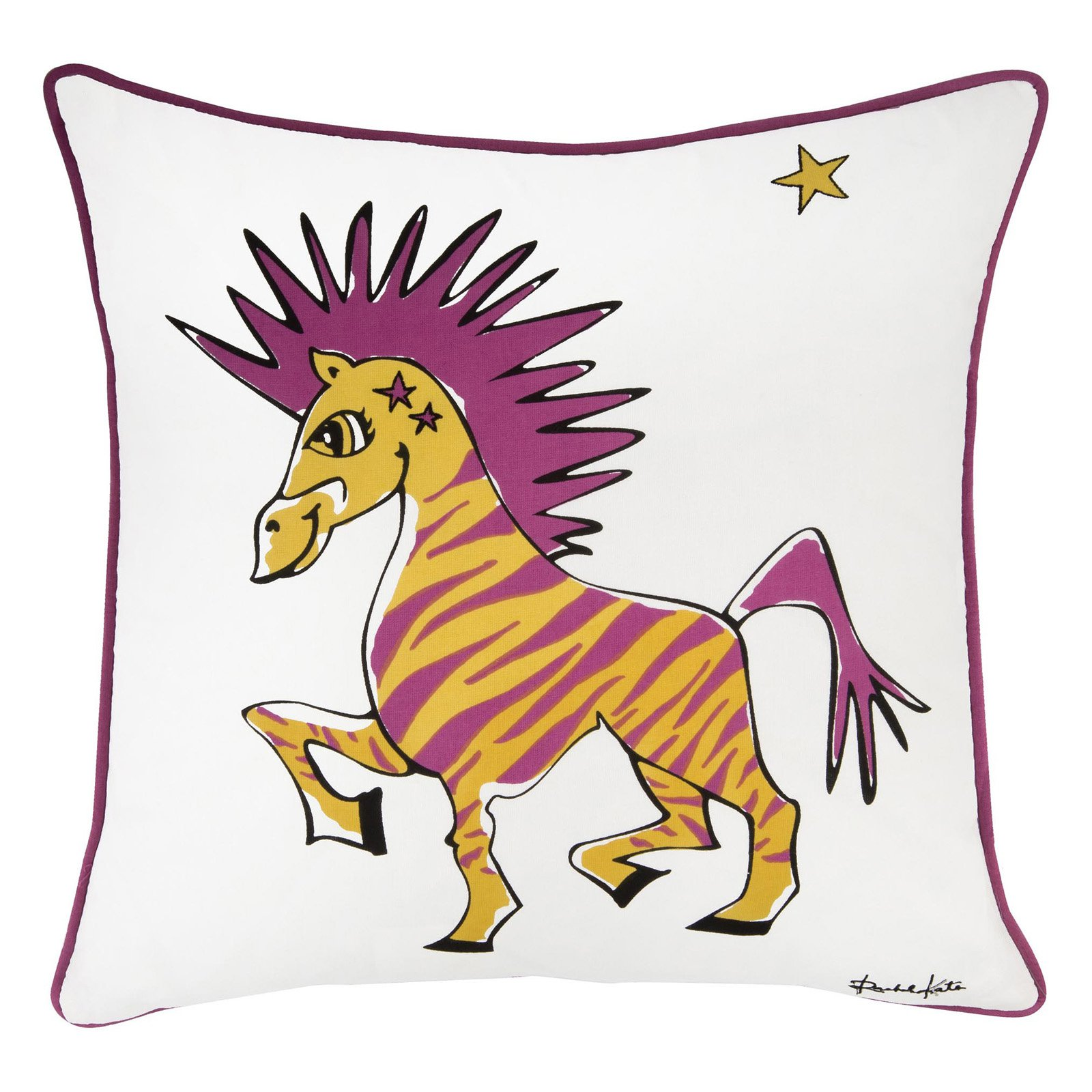 """Rachel Kate By Rizzy Home Decorative Poly Filled Throw Pillow Zebra 18""""X18"""" Red"""