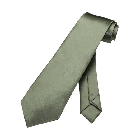 BOY'S NeckTie Solid OLIVE GREEN Youth Neck Tie ()