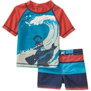 Newborn Baby Boy Rash Guard Swim 2-Piece Set
