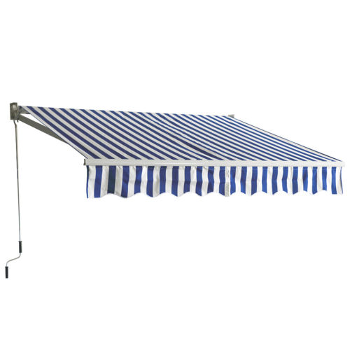 Patio Manual Retractable Sun Shade Awning, 8.2x6.5 Door Awnings Canopy