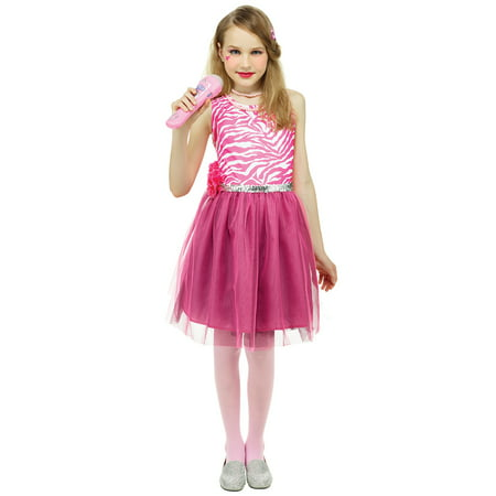 80's Pop Star Kids Dress Girls Dress Up Cosplay Costume (80s Dress Up Costumes)