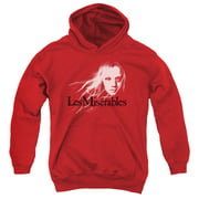 Les Miserables Textured Logo Big Boys Pullover Hoodie