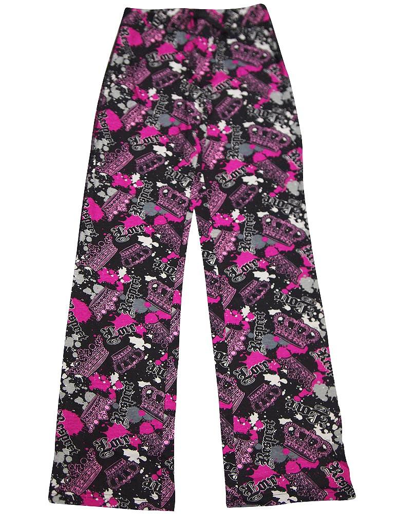 Fancy Girlz - Junior Girls Lounge Pant be happy multi / Small