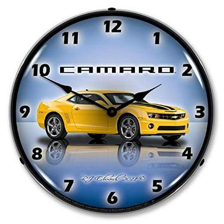 Camaro SS G5 Yellow Chevrolet Muscle Car Wall Clock 14