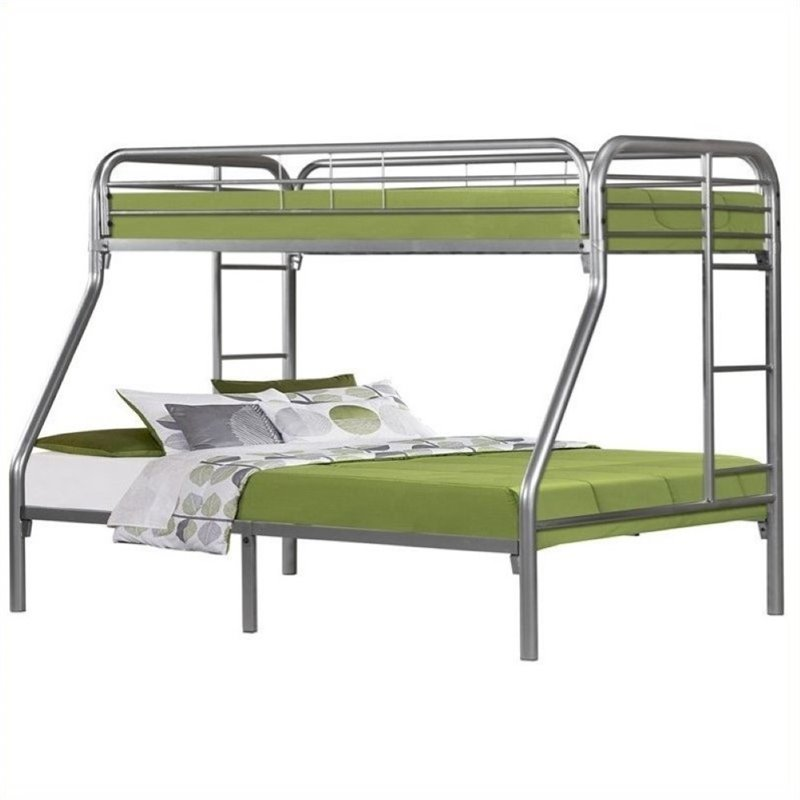 Rosebery Kids Twin Over Full Bunk Bed in Silver