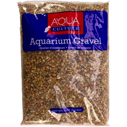 Aqua Culture Aquarium Gravel, Small Coral Pebble, 5 lb