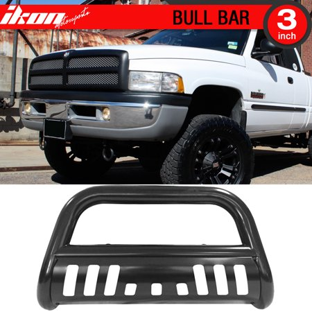 Ikon Motorsports Bull Bar Grille Guard - Fits 94-01 Dodge Ram 1500 94-02 Ram 2500 (Dodge Ram Brush Guards And Bull Bars)