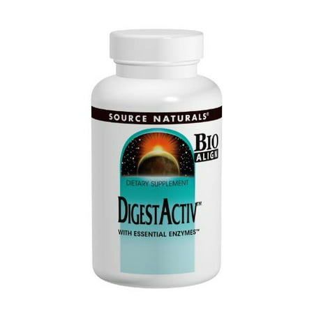 - Source Naturals DigestActiv With Essential Enzymes, For Occasional Indigestion, 60 Capsules